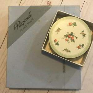 Pimpernel Coasters and Placemats